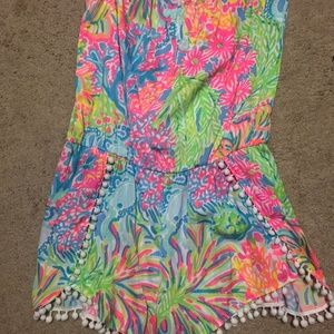 Lilly Pulitzer Romper with Poms
